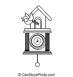 cuckoo watch time isolated icon vector illustration design