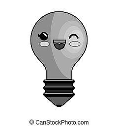 bulb light education character icon vector illustration...