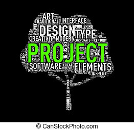 Tree shape wordcloud project