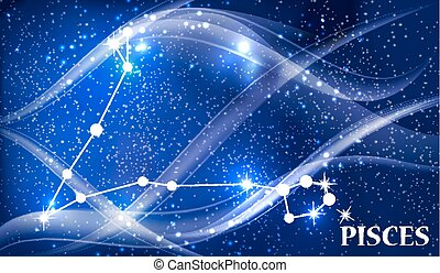 Symbol Pisces Zodiac Sign. Vector Illustration. - Symbol...