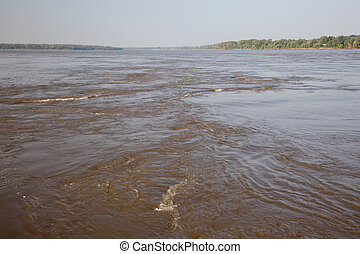 Mississippi River - whirls and eddies of the Mississippi...