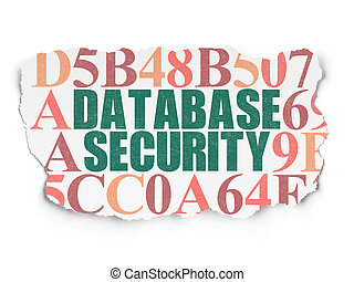 Security concept: Database Security on Torn Paper background