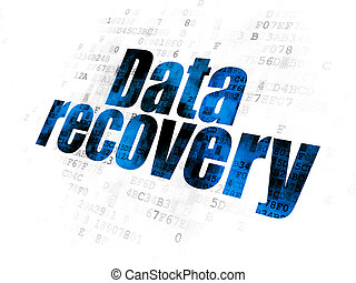 Data concept: Data Recovery on Digital background - Data...