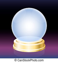 Oracle Crystal Ball - Oracle crystal ball - empty glass...