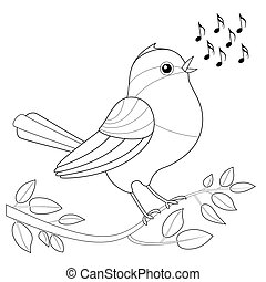 Songbird Coloring Picture - Songbird coloring picture -...