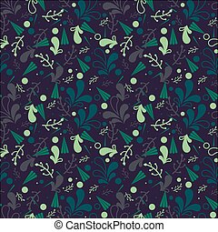 Simple cute seamless pattern in light green leaves. Ornament...