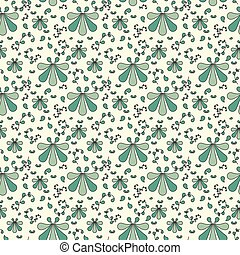 Seamless cute pattern with white filled and strocked stars...