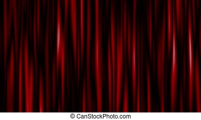 Highly detailed 3d animation of curtain. Seamless loop