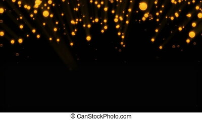 Abstract background with glittering particles. Seamless loop