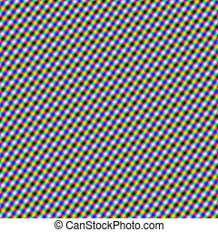 Psychedelic Crosshatch - An abstract digital image with a...
