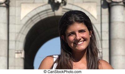 Happy Spanish Woman Posing