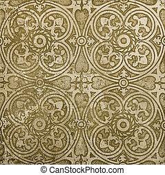 travertine marble texture - Ornamental old east tile -...