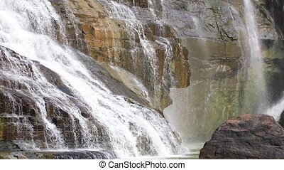 Detail of Pongour waterfall in Vietnam - The lower reaches...