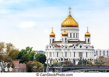 Cathedral of Christ the Saviour in Moscow, Russia, the...