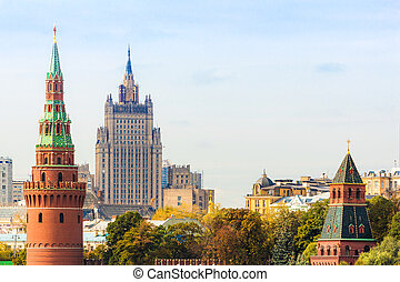 MID in Moscow with Kremlin tower - Ministry of Foreign...