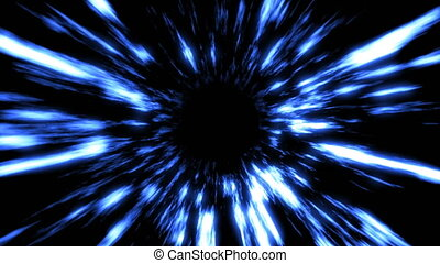 Futuristic light tunnel. Abstract background. Seamless loop....