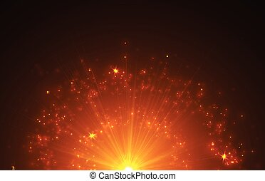 Abstract Background with Falling Star and Twinkling Trail. -...