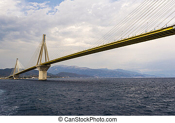 Cable-stayed suspension bridge, Greece - Cable-stayed...