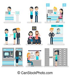 Bank People Flat Collection - Bank people flat collection...