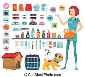 Veterinary Icons Collection - Veterinary icons collection...