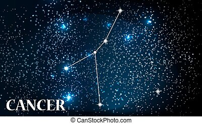 Symbol Cancer Zodiac Sign. Vector Illustration. - Symbol...
