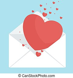envelop with hearts - Envelope with heart. greeting cards...