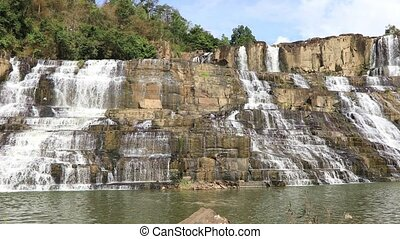Famous Vietnamese Pongour Waterfall - Pongour Waterfall, one...