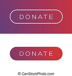 Modern Donate button flat vector