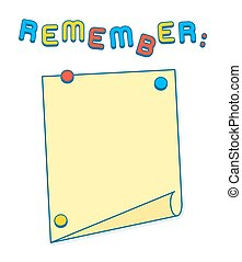 Reminder List on whiteboard or fridge with magnets