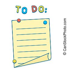 To Do List on whiteboard or fridge with magnets, copy space...