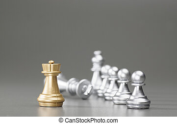 Golden Rook chess - Golden Rook take down the silver king on...