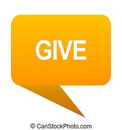give orange bulb web icon isolated.