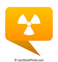 radiation orange bulb web icon isolated.