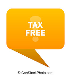 tax free orange bulb web icon isolated.