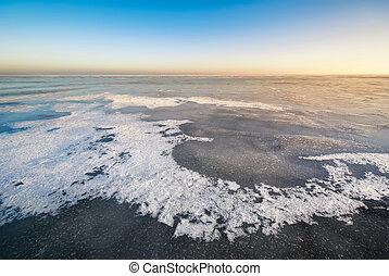 composizione, paesaggio, inverno, Ghiaccio, natura