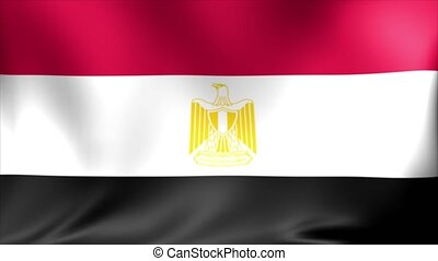 Egypt Flag. Background Seamless Looping Animation.
