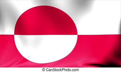 Greenland Flag. Background Seamless Looping Animation.