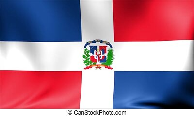 Dominican Republic Flag. Background Seamless Looping Animation.