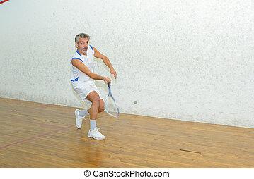 player of squash
