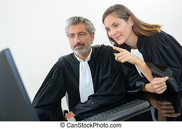 two judges in office