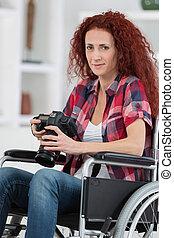 婦女,  dslr, 圖片, 拿, 無能力, 照像機