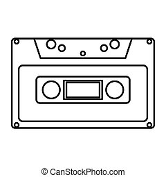 Casette - Simple thin line casette icon