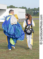 after the parachuting experience
