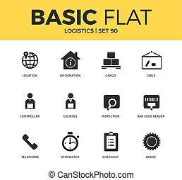 Basic set of Logistics icons