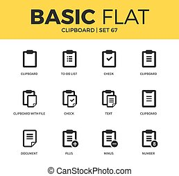 Basic set of clipboards icons - Basic set of clipboard check...