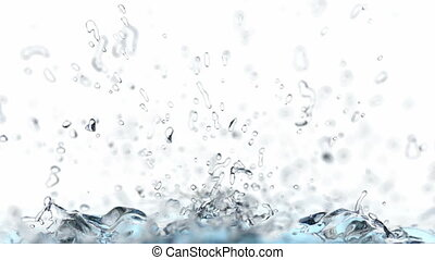 Realistic 3D animation of splashing water - Water is filling...