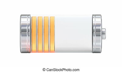 3D animation of the battery - Battery charging and...