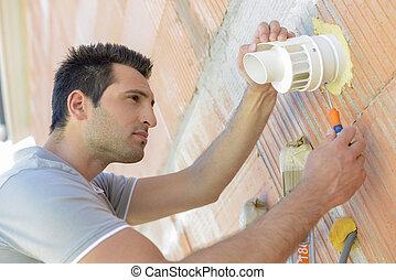 Repairing ventilation hatch
