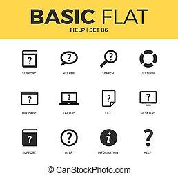 Basic set of help icons