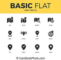 Basic set of map icons